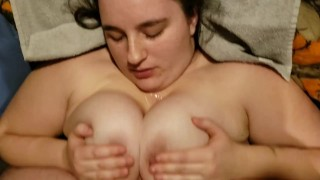 Tit fuck with facial
