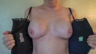 FIRST REVEAL - MILF STELLA'S BOOB JOB 24 HOURS AFTER SURGERY