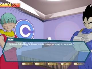 Dragon Ballz - Goku and Vegeta DP fuck with Bulma