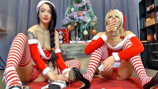 festive fun with brits april and alessa – teen porn