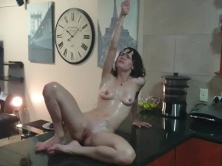 girl piss in her white panties and play around in her own piss