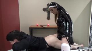 Worship Her Cock - nun bangs priest before bible study