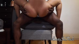 Big ass slim thick she rides it perfectly till creampie