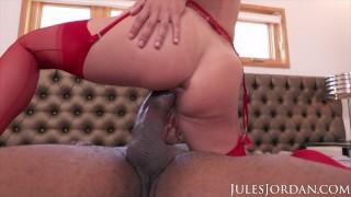 Jules Jordan - Adria Rae GAPES Her Ass For Dredd