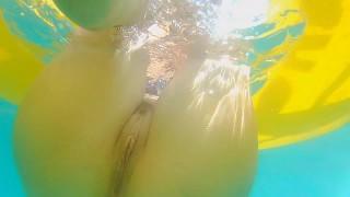 Enjoy Underwater NO PANTIES at PUBLIC BEACH