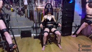 Heavily Restrained in the Bondage Chair