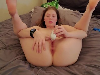 Multiple orgasums with favorite toy