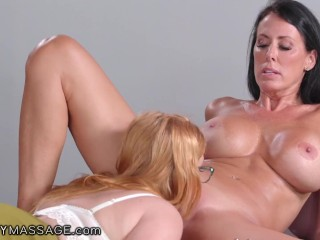 FantasyMassage Redhead Offers MILF Boss a Rubdown at Work