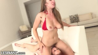 LESBIANX Maitland Ward & Lena Paul Hardcore Lesbian Fucking & Cumming