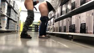 (Almost Caught) Public Fuck at Walmart Supermarket Risky Random Sex Search 365movies