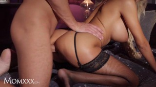 MOMxxx Sultry blonde Florane Russell gets cowgirl creampie