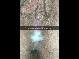 Lover creampied your wife pussy and then knock her up. Enjoy Hubby Cuck.