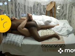 ruining her tight Asian pussy with my BBC. she told me to pound it so hard