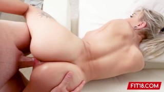Fit18 - Chloe Temple - Casting Skinny 100lb Blonde Newcomer