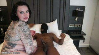 HARMONY REIGNS ATTEMPTS HER 1ST TIME DOUBLE VAGINAL WITH 2 BLACK DICKS
