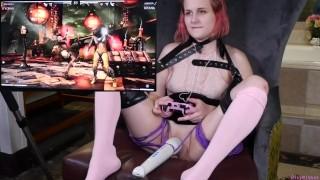 Kinky Gamer Teen Tries not to Cum While Playing Mortal Kombat