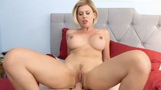 Big Tit Blonde MILF Rides Neighbors Big Cock
