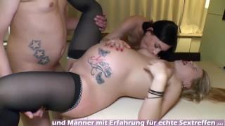 Pregnant german mom make threesome ffm homemade bareback