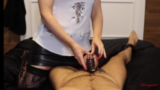 femdom chastity cock cage slave locked n teased before my evening out DAY 1
