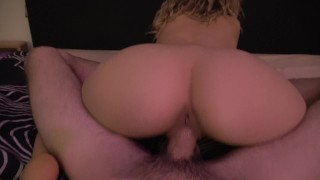 GIrlfriend Sucking and Riding a Big Dick until he Cums Inside Me! By Mimi Boom