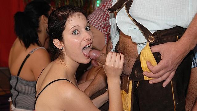 deepthroat bukkake oktoberfest orgy