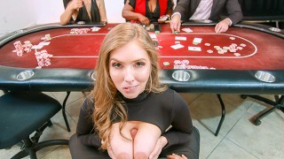 VR BANGERS Hot Curvy Girl Caught You During Poker Play And Fucks You Hard