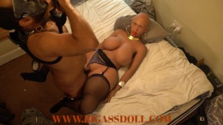 Bald native african girl from village recieving a pervert's cock