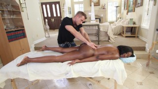 BANGBROS - Black MILF Nyomi Banxxx Orders Massage With A Side Of Cock