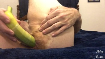 Stud Fucks His Ass With A Banana