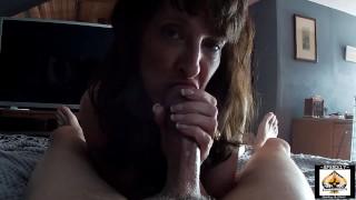 Sexy Granny Big Cock Blowjob Cum Lover