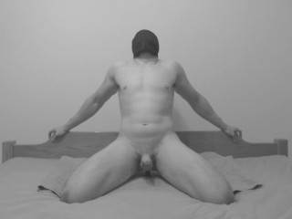 Straight Guy Moaning and Riding 2 X ORGASM Anal Dildo Vibrator on Prostate