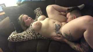 Stunning Busty Milf in cheetah
