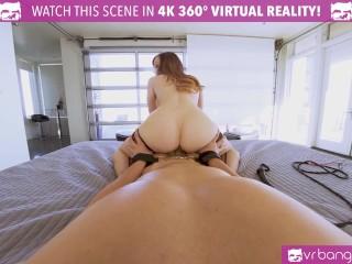 VR BANGERS Redhead Horny Cougar Fucks Her Driver