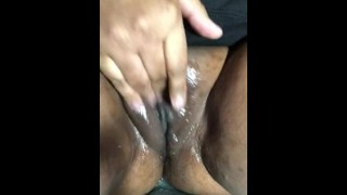 CLOSE UP! SUPER HORNY EBONY... LOTS OF SQUIRTING!