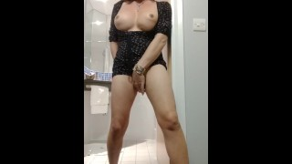 Rough old trans trying to look sexy while wanking but failing