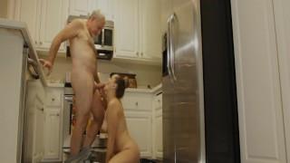 Old Man Dicks Down Kendra Lynn's Hairy Little Pussy