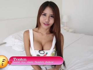 HELLOLADYBOY Busty Thai Slut Sucks Off Hung White Guy