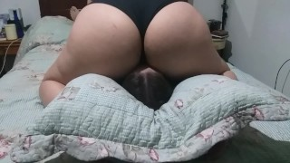 Facesitting and smothering my slave with my huge ass until I come