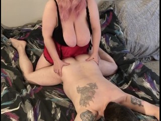 Pegging hubby's tight ass and using him as my fuck slut