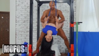 MOFOS - Petite inked asian Rae Lil Black gets some gym dick