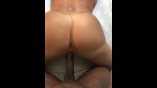 Big ass MILF taking BBC from the back