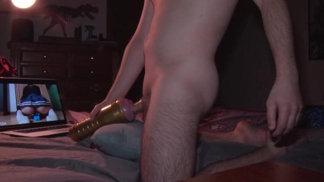 Watching Porn Riding Dildo