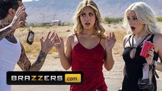 Brazzers - Blonde slut Alina Lopez fucks inked cop to get off