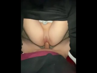 stepmom caught stepcousin and I fucking in the basement