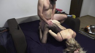 Good anal gets interrupted by husband coming home