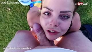 MyDirtyHobby - Chubby busty outdoors anal creampie