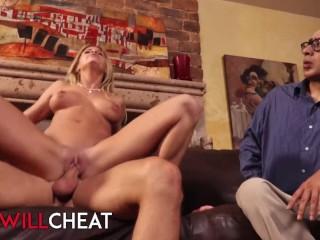 She Will Cheat – Jessa Rhodes cucks her beta husband while he watches