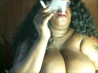 SMOKE WITH ME BABY: Big Titty Smoking DREAM Come True