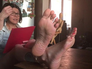 Milf reads JOI from the Ministry of Masturbation Rus.accent - OlgaNovem