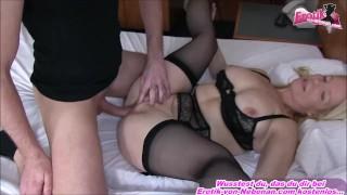 German housewife milf get creampie from younger guy huge cum load